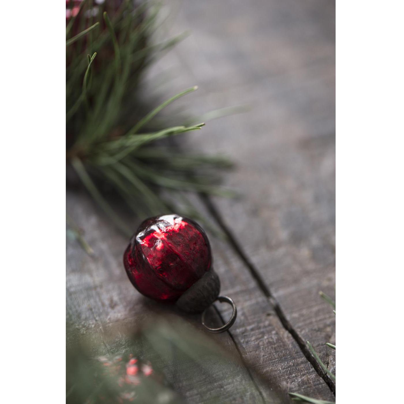 Mini Weihnachtskugeln.Ib Laursen Tüte Mit 10 Weihnachtskugeln Mini Rot